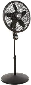 Lasko 18 in. Cyclone Pedestal Fan with Remote Control, Black