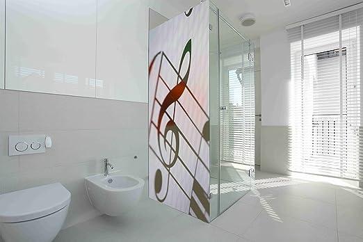 Vinilo para Mamparas baños Clave de Sol y Rosa |Varias Medidas ...
