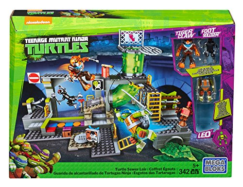[Mega Bloks DMX55 Teenage Mutant Ninja Turtles - Turtle Sewer Lair, 342 Piece] (Ninja Turtles Turtles)
