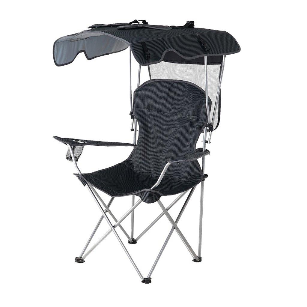 大人の重い人々のためのシェードとキャンプチェア屋外のベンチ芝生の折り畳み式のラウンジチェア、ホールド100キロ (サイズ さいず : Green 1) B07D336CF8 Green 1  Green 1