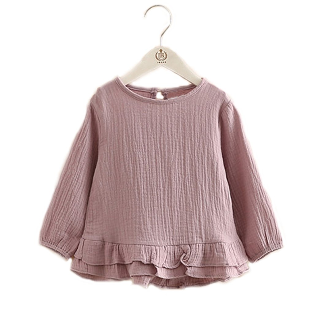 Colorful Childhood Toddler Girls T Shirt Princess Girl Ruffles Cotton Tops for Teen Girls KT6A250