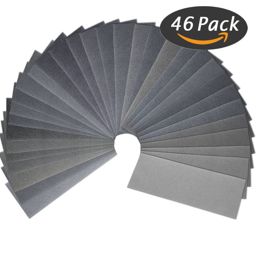 120 to 7000 Grit Wet Dry Sandpaper Assortment 9 x 3.6 Inches for Automotive Auto Wood Sanding by Anezus