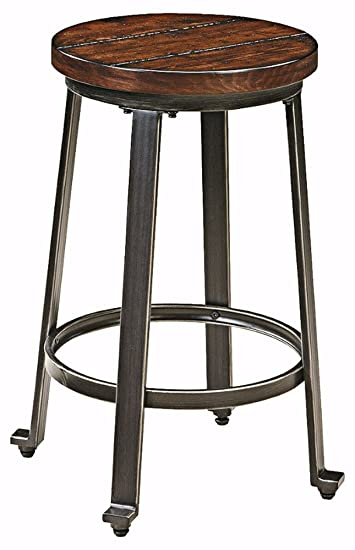 Ashley Furniture Signature Design - Challiman Bar Stool - Counter Height - Set of 2 -  sc 1 st  Amazon.com & Amazon.com: Ashley Furniture Signature Design - Challiman Bar ... islam-shia.org
