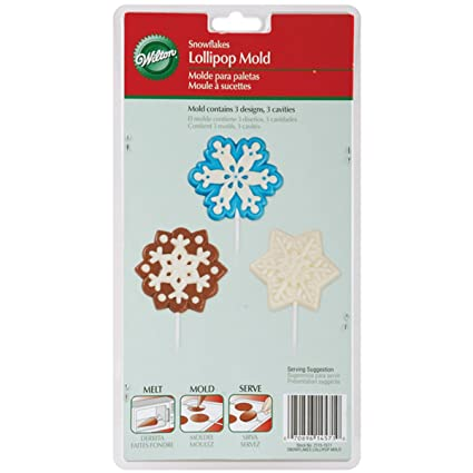 Lollipop Mold-3 Cavity Snowflakes