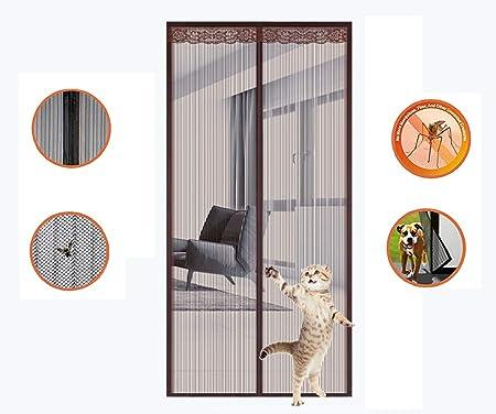 HANING Cortina Mosquitera para Puerta, Exterior Corredera, Automático, Duradera, Fácil De Instalar, Protección contra Insectos, Ultra del Sello,Brown,130x220cm(51x87inch): Amazon.es: Hogar