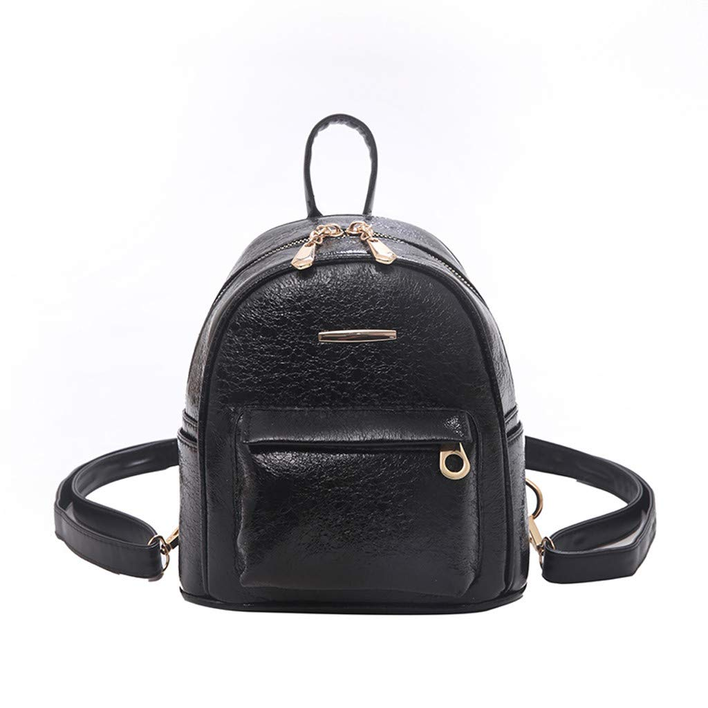 Women Shoulder Bag Student Backpack  Waterproof Leather Fashion Reflective Mini Cusual Travel Couple Small Bag by Dacawin-Women Bags
