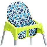 Chaise haute bébé Coussin imperméable à l'infini Housse chaise haute (bleu)
