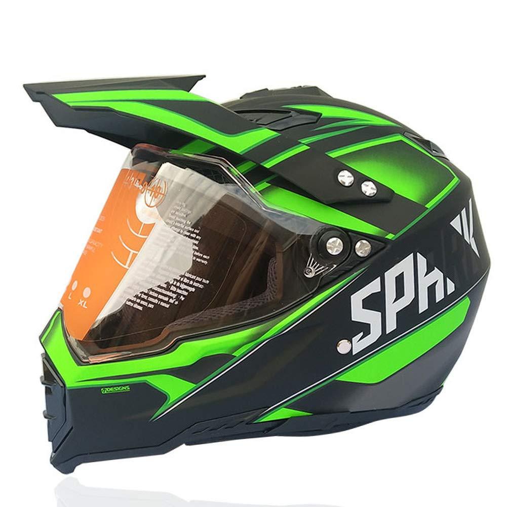 Style 5,L SSYWX Full Cover Four Season Motocross Helm Road Motocross Downhill Pedal Helm F/ür Herren Und Damen M-XXL 55-61 ECE Gepr/üft