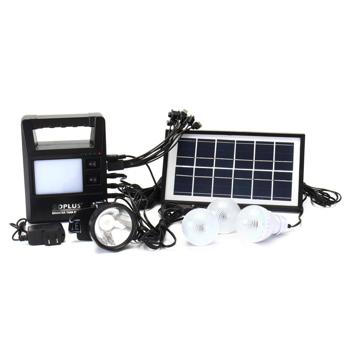 Anddoa Portable Solar Panel Generator Charging Solar Powered System Home Generator System Kit