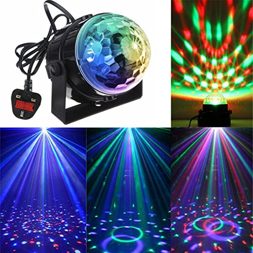 KINGSO Mini Disco DJ Stage Lights 3W LED RGB Sound Actived Crystal Magic...