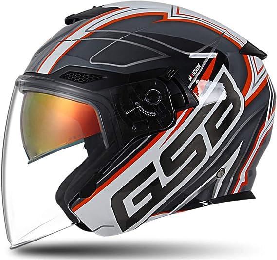 Yyou Cara Abierta Casco de la Moto, Retro de la Personalidad Harley Medio Casco con Gafas de Sol Interior Vespa Casco de la Bici para el Adulto, D.O.T Certificado,XXL: Amazon.es: Deportes y