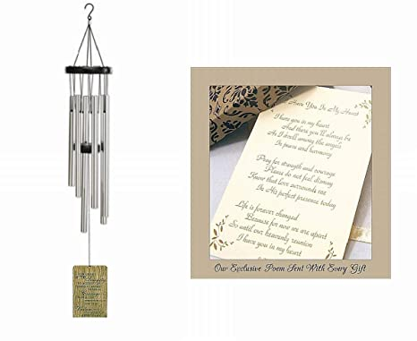 Serenity Prayer Sympathy Gift Wind Chime to Send for Funeral Or Memorial  When Someone Loses A Loved One Express Condolences to The Grieving in a
