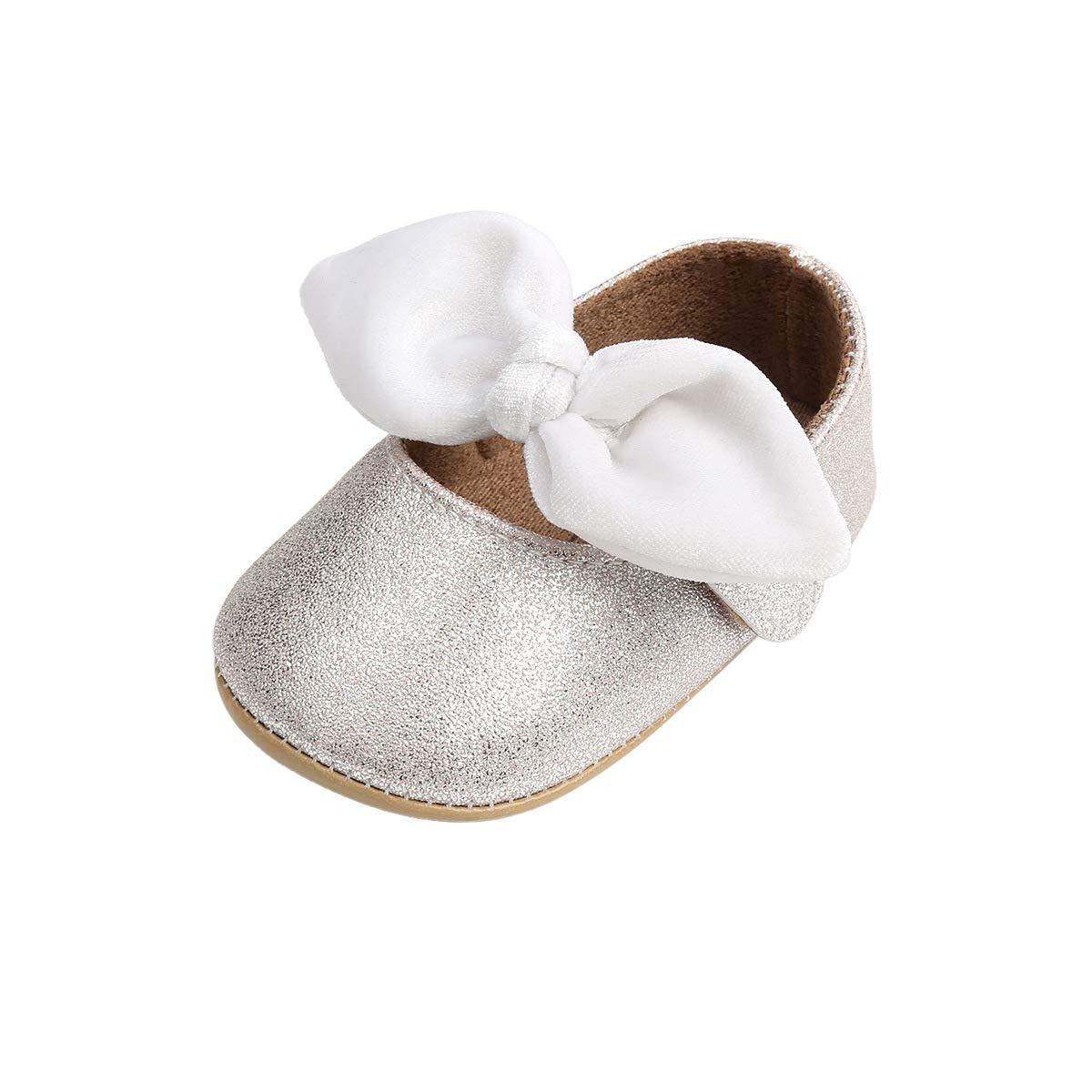 2423ed417945b DOTBUY Chaussures Enfants Filles Bébés, Nouveau Né Bowknot Toddler  Antidérapant Premières Pas Chaussures Marcheurs  Amazon.fr  Vêtements et  accessoires