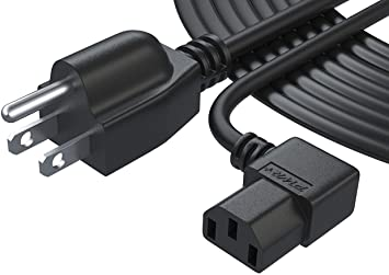 Pwr Cable de alimentación de 3 clavijas para televisor LCD, CA, listado por UL, extralargo, 12
