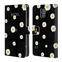 Head Case Designs Inside Out Everything Daisies Leather Book Wallet Case Cover for Samsung Galaxy Note5 / Note 5