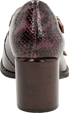 67b50b7440c6 Clarks Women s Tarah Presley Leather Closed Toe Ankle Strap Mary Jane Pumps  Aubergine 6.5 B(M) US  Buy Online at Low Prices in India - Amazon.in