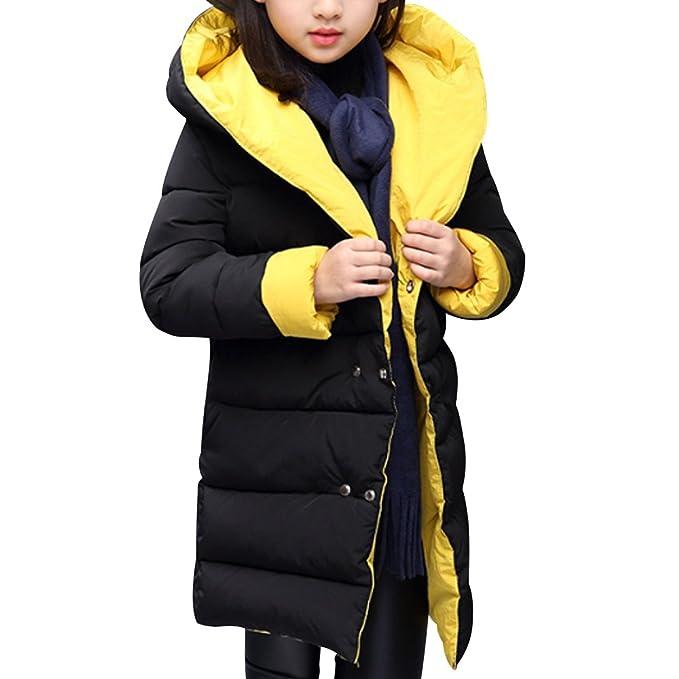 OCHENTA Chicas acolchado casaca chaqueta con capucha Medium dos caras Posible otoño invierno: Amazon.es: Ropa y accesorios