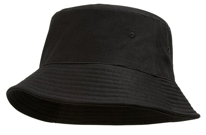 a46c66ddcf211 TOP HEADWEAR TopHeadwear Blank Cotton Bucket Hat - Black - Small Medium
