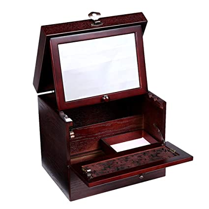 AnchengKAO Cajas Relojes Hombre Caja de Almacenamiento de Escritorio portátil de Madera pequeños Objetos cosméticos Que