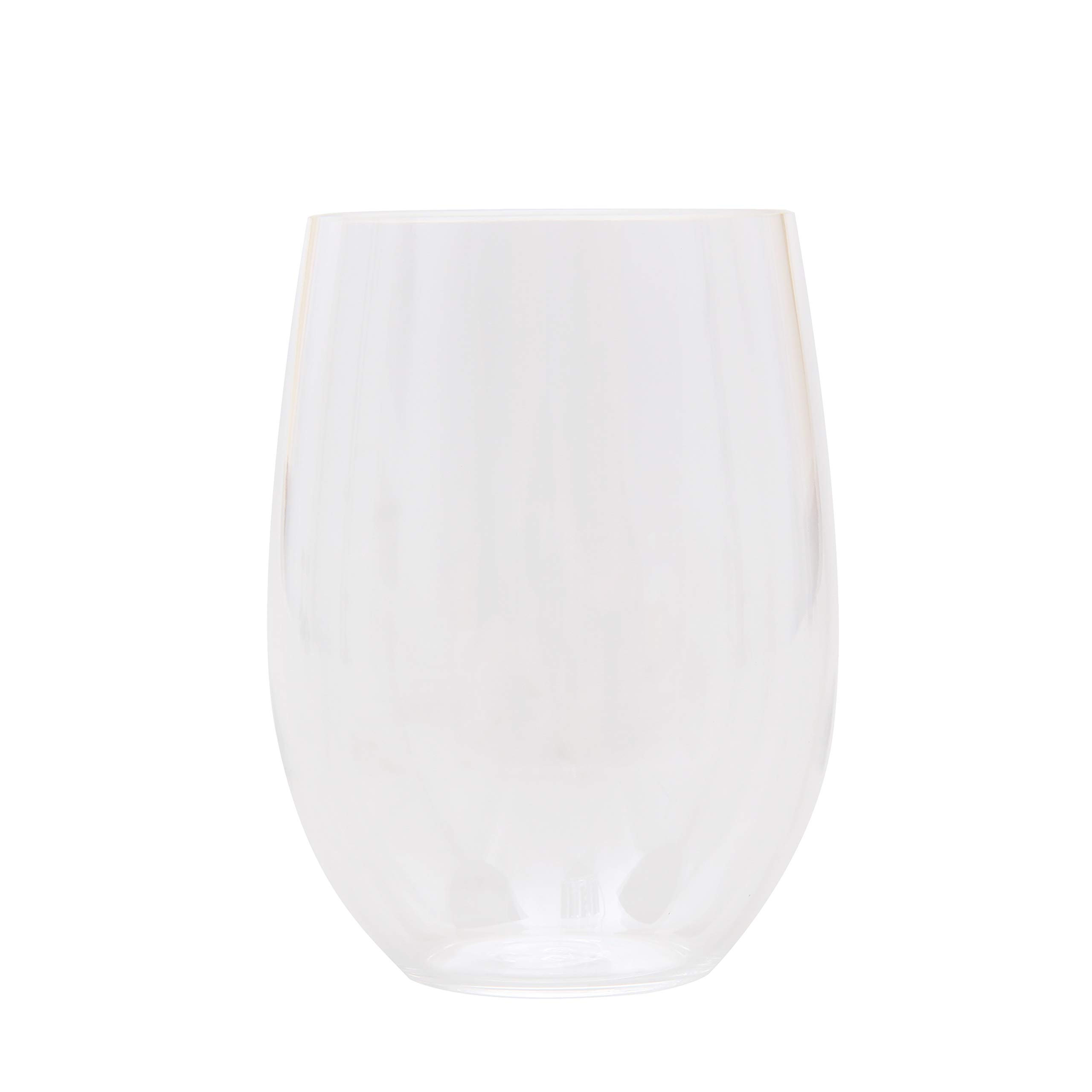 Mainstays 6-Piece Melamine Stemless Wine Set, White by First Design Global, Inc. (Image #2)