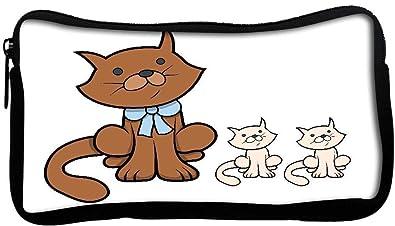 Amazon Snoogg 子猫の漫画イラストとかわいい漫画の猫 ポリキャンバス