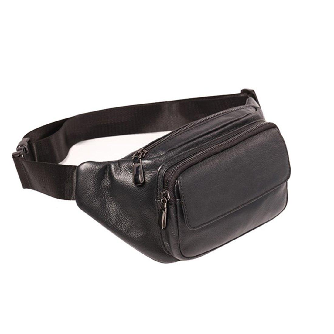AIAIMEI Leder Bauchtasche Vintage Gürteltasche Leder Bauchtasche Hüfttasche Kamera Handy Reise Festival Unisex Echtleder Mode-Hüfttaschen