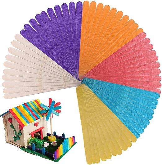Palos Helado Colores HO2NLE 200pcs Palos Madera Manualidades ...