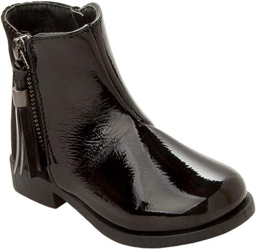 Girls Black Patent Chelsea Boots Kids