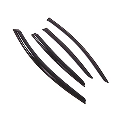 Tuningpros WD2-619 Outside Mount Window Visor Deflector Rain Guard Dark Smoke, 4 Pcs Set Compatible With 2011-2020 Buick Regal: Automotive