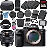 Sony ILCE7SM2/B Alpha a7S II Mirrorless Digital Camera (Body Only) + Sony E 10-18mm f/4 OSS Lens SEL1018 + 256GB SDXC Card + NP-FW50 Lithium Ion Battery + External Rapid Charger Bundle