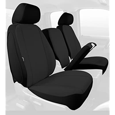 Fia SP88-30 BLACK Custom Fit Front Seat Cover Split Seat 40/20/40 - Poly-Cotton, (Black): Automotive