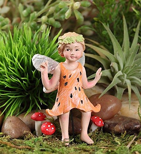 - Tiger Lily Fairy CORAL Miniature Garden Dollhouse Fairy Gnome