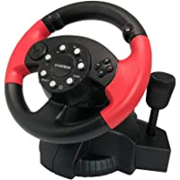 GAMEMON Playstation3/PC(X-INPUT/D-INPUT) 3IN1 Racing wheel with gear and foot pedal
