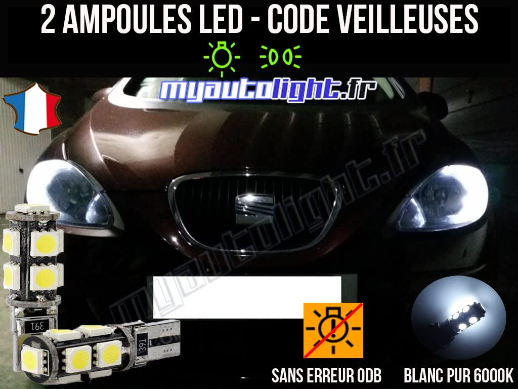 Pack de lamparillas LED de color blanco Xenon para Seat Leon 2