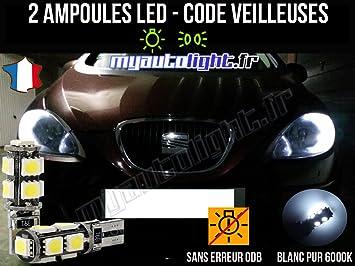 Pack de lamparillas LED de color blanco Xenon para Seat Leon 2: Amazon.es: Coche y moto