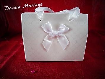 Boite A Gateau Forme Sac Cadeau Pour Mariage Ou Bapteme X25