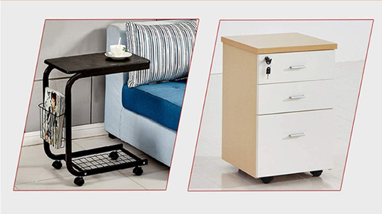 4pcs roues de roulettes pivotantes pour chaise de bureau roulettes /à billes pour meubles de 250mm roulettes en nylon support galvanis/é silencieux avec tige filet/ée M8 M10 pour cana