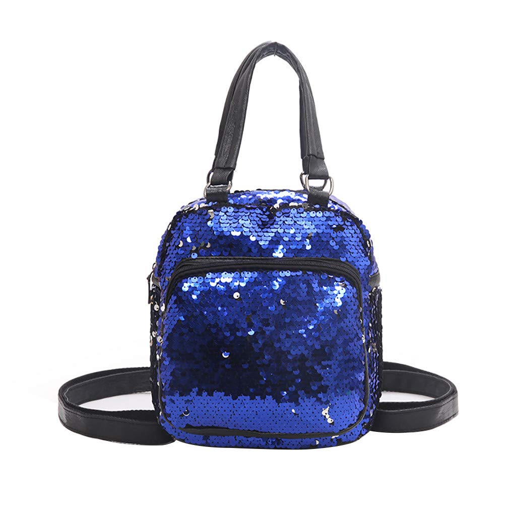 Women Fashion Wild Sequins Messenger Bag Student Bag Casual Backpack