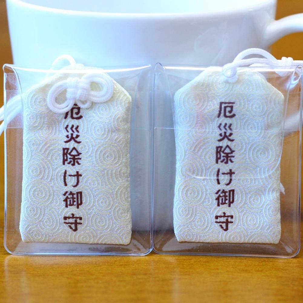 iYoung Bolso de Amuleto de bendici/ón Artesan/ía de Tela Japonesa Bolsita vac/ía Mini Bolsa con Colgante