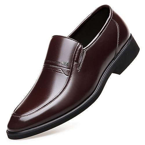 da84e65c428 Mocassin Chaussure au Loisir sans Lacet pour Homme Papa Chaussure en Cuir  Habillée d affaire
