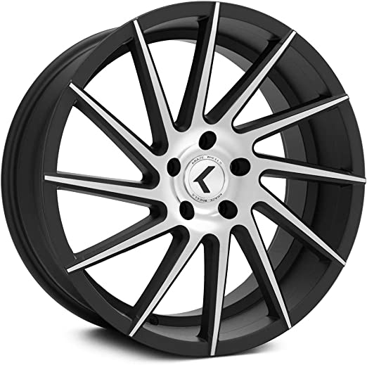 38mm Black//Machined Wheel Rim 22 Inch Kraze KR191 22x8.5 5x115
