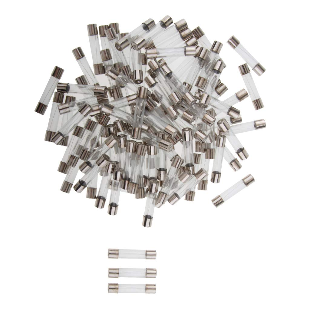 100Pack 5000mA 250v Fast Blow Glass Fuse Axial 6mm X 30mm