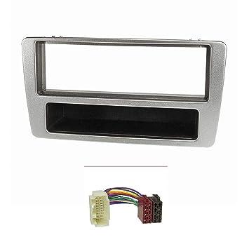 tomzz Audio 2417 - 002 de Radio (Juego) para Honda Civic (2001 - 2006), vehículos M. Manual Aire Acondicionado, Plata: Amazon.es: Electrónica