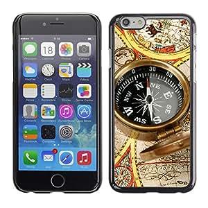 "Print Motif Coque de protection Case Cover // V00001976 Brújula mapa del mundo // Apple iPhone 6 6S 6G PLUS 5.5"""