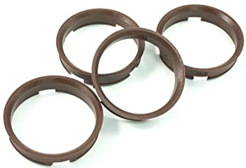 4 x centering ring 72.6 mm to 66.6 mm brown//brown