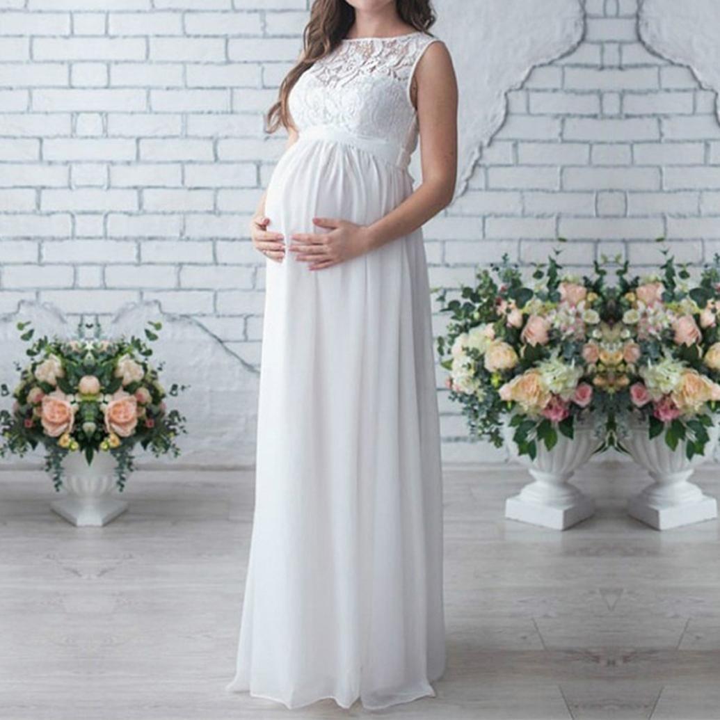 K-youth Vestidos Largos de Fiesta Vestidos Embarazada Fotografia Vestido Fotos Embarazada Encaje Vestido para Mujeres Embarazadas Vestidos De Maternidad ...