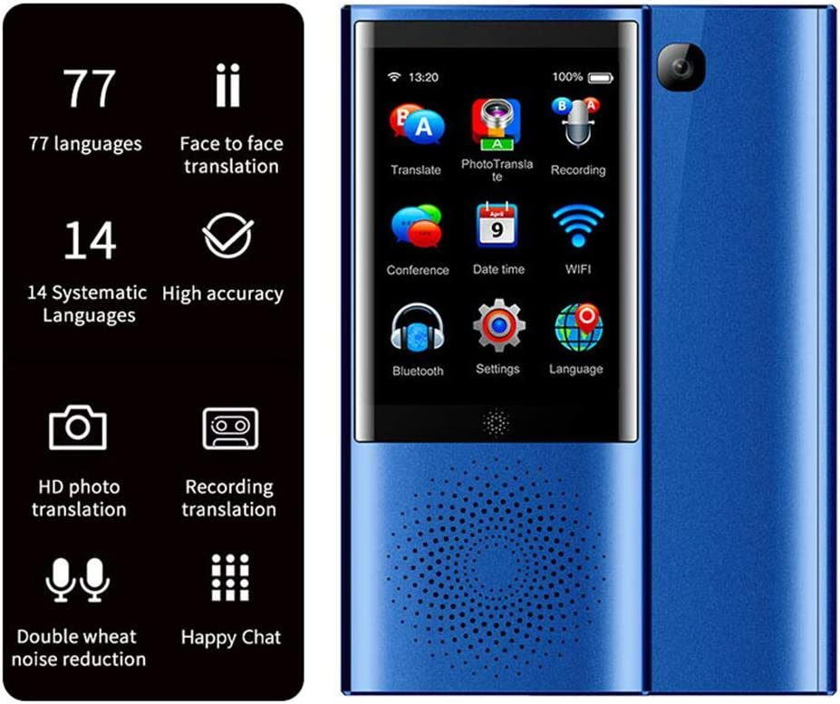 Portable Languages Instant Translator Device Learning Smart Voice 2-Way Translator Real Time for Travel Abroad,Shopping 3-inch IPS Screen|1550 mAh battery|8G Memory|Built-in mic|Offline Available
