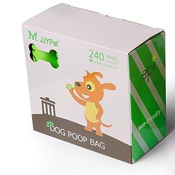 JJYPet Bolsas de basura para perros, 240 unidades, biodegradables ...