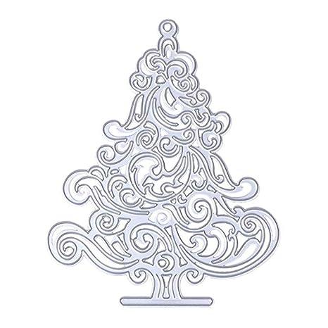 Newin Star Árbol de Navidad en forma de troqueles de corte de la plantilla de acero ...