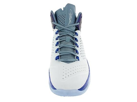 super popular fcc00 8e14c Amazon.com   Jordan Nike Men s Melo M11 White White Game Royal Cl Blue  Basketball Shoe 10 Men US   Basketball
